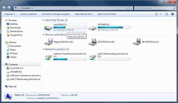 Windows 7 map Samba share steps